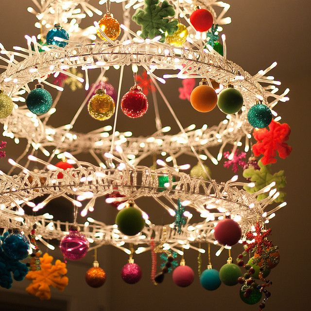 Christmas: Holiday, Christmas Time, Craft, Christmas Decoration, Chandeliers, Christmas Idea, Christmas Chandelier