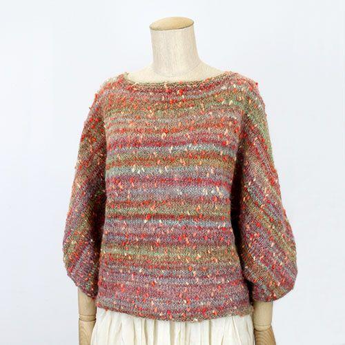 Knit Sweater Kit / [キット] メリヤス編みドルマンスリーブセーター COL-14 - Puppy オンラインストア (パピー毛糸)
