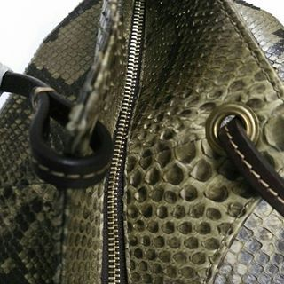 what does python embossed leather mean