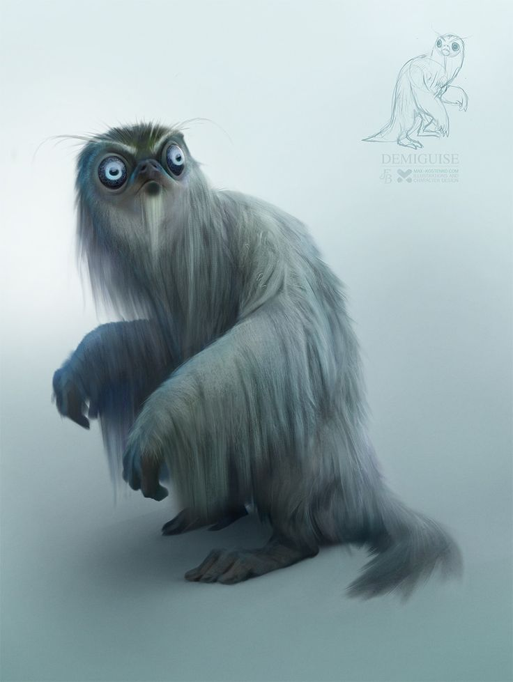 Demiguise, Max Kostenko on ArtStation at https://www.artstation.com/artwork/PbaNy