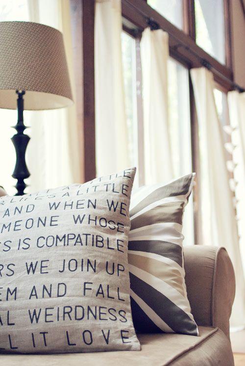 diy stencil pillow w/ sharpie