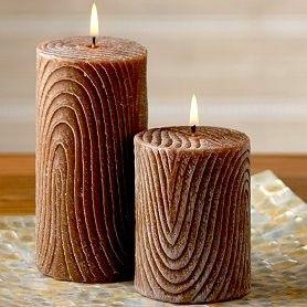Brown Pillar candles - worldmarket.com