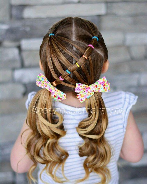 Girl hairstyles children braid. Beautiful hairstyles for young girls. Creative hairstyles for children to copy themselves. #dresses #maids …