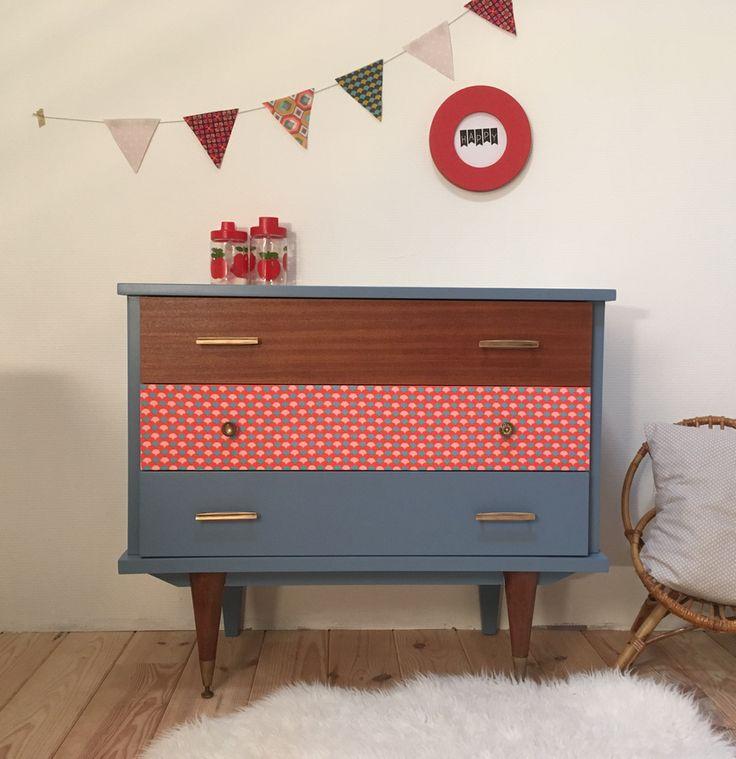 215 best meubles vintages lilibroc images on pinterest - Tissu ameublement vintage ...