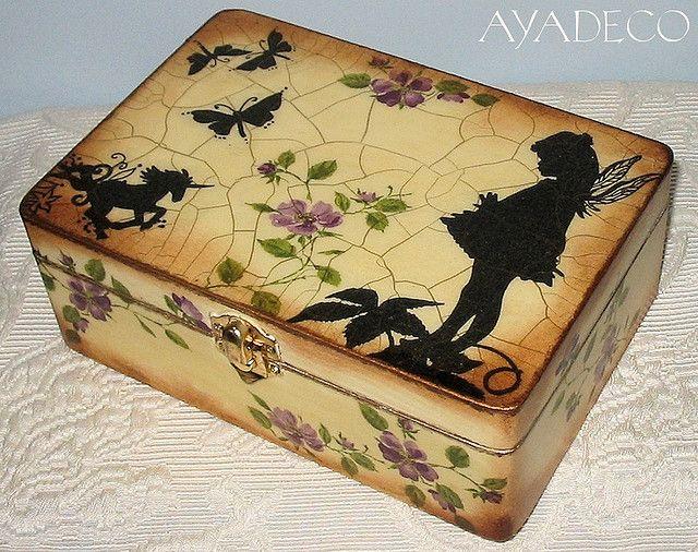 Fairy box - decoupage