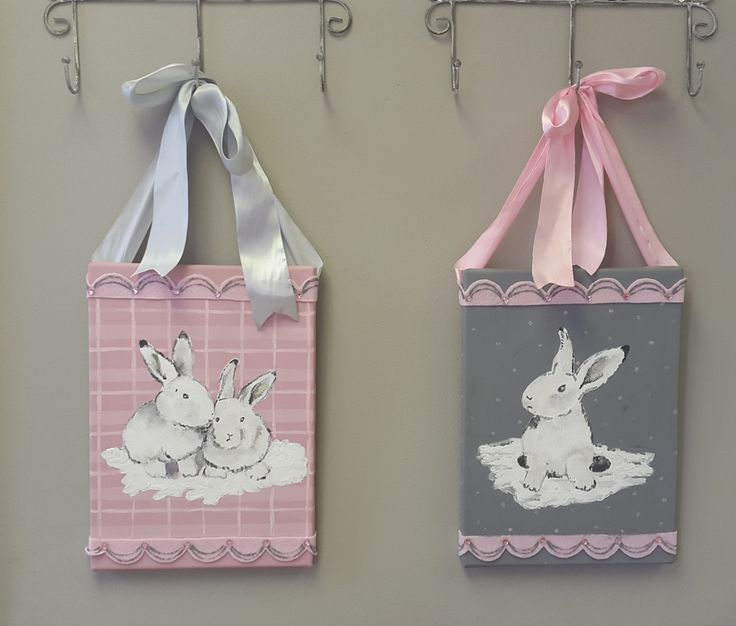 Hand Painted Bunny canvasses