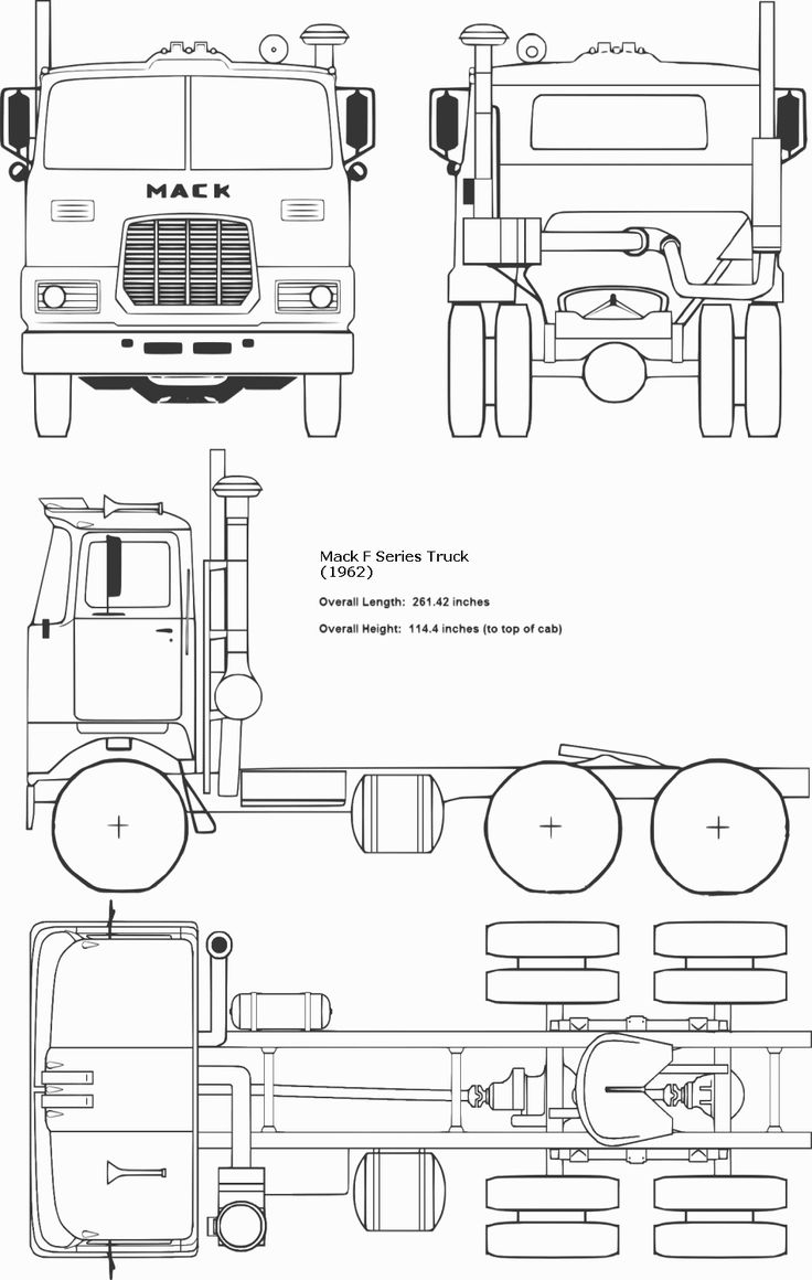 54 best blueprints images on pinterest slot cars art pieces and mack f series truck blueprint malvernweather Image collections