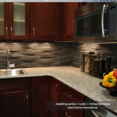 This 3D stone cladding is great for modern fireplaces AND backsplashes. Easier to install than you think!