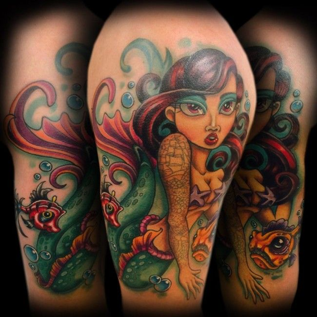 150+ Seductive Mermaid Tattoos And Their Meanings cool