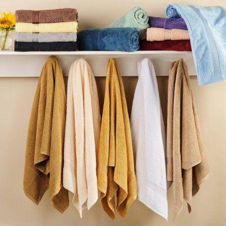 Simple Luxury Superior Egyptian Cotton Bath Towel (Set of 4), White