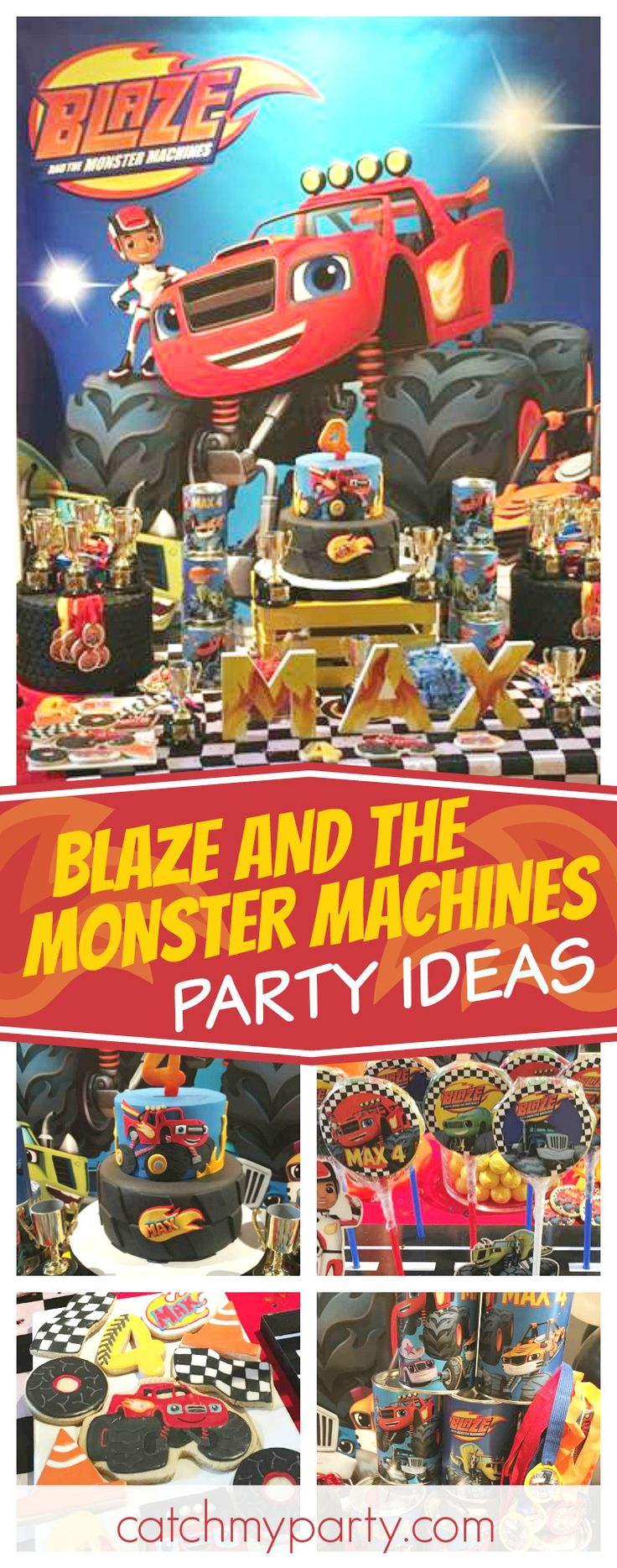 Check out this awesome Blaze & the Monster Machine birthday party!!! The dessert table is awesome!! See more party ideas and share yours at CatchMyParty.com