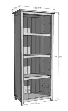 Best 25 bookshelf plans ideas on pinterest diy for Build your own bookshelves plans