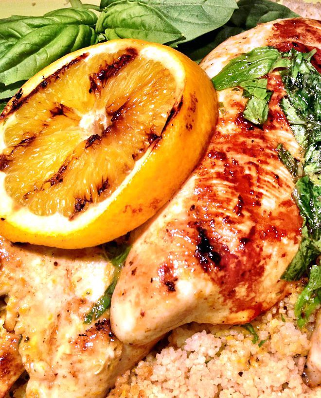 Orange Basil Grilled Chicken Recipe - A healthy and delicious meal for grilling any time of the year.
