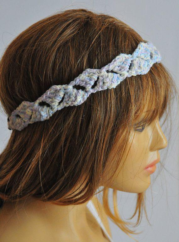 crochet Headband hair accessories hair band Boho by selenayy