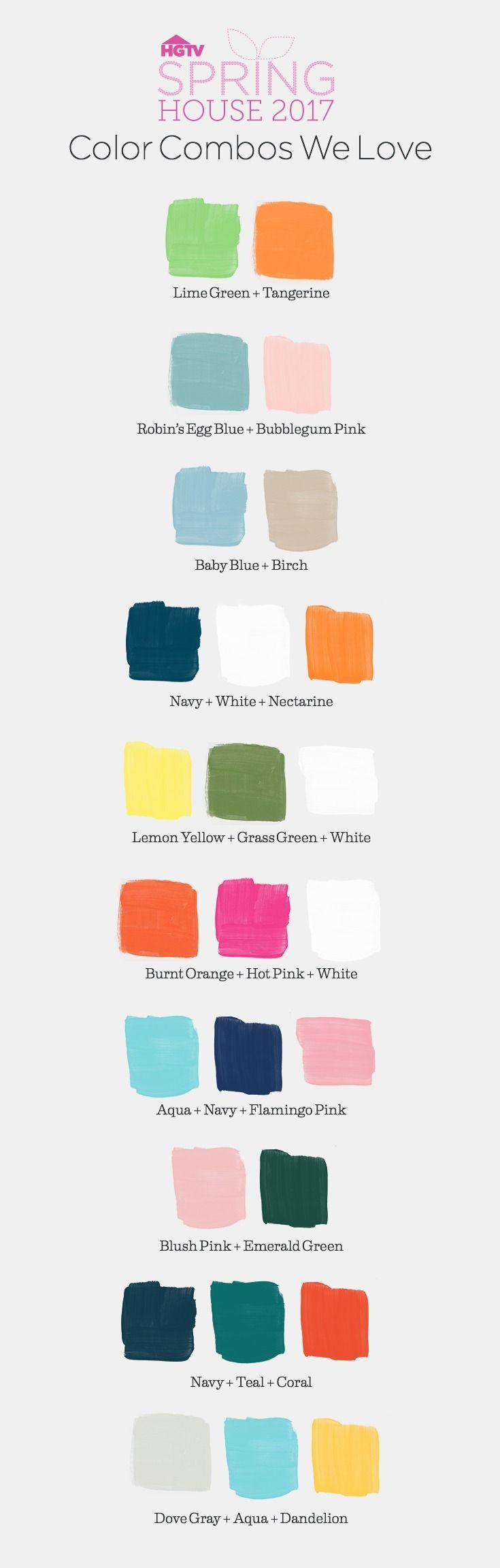 Spring color combos we love >> http://hgtv.com/springhouse?soc=pinterest