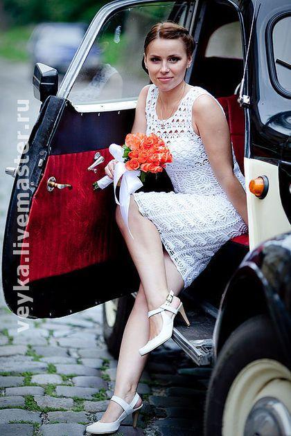 """Платье """" Ретро"""" - свадьба,вязаное платье,вечернее платье,свадебное платье"""