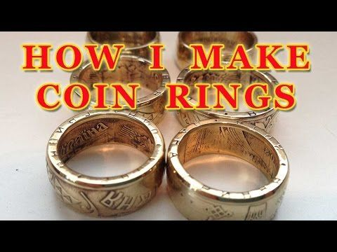 How to make coin rings (short version) - Double Sided Coin Ring - How I do it - YouTube