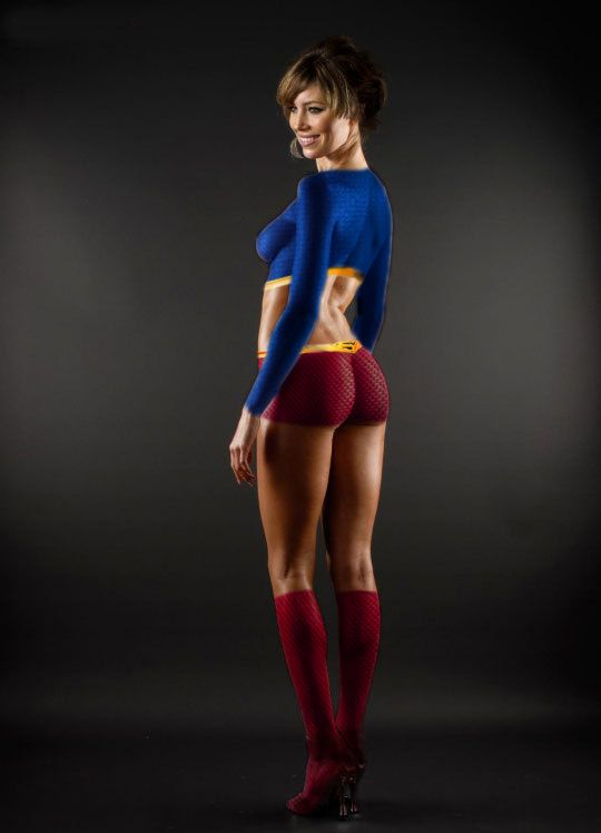 Really. All Sexy supergirl body paint