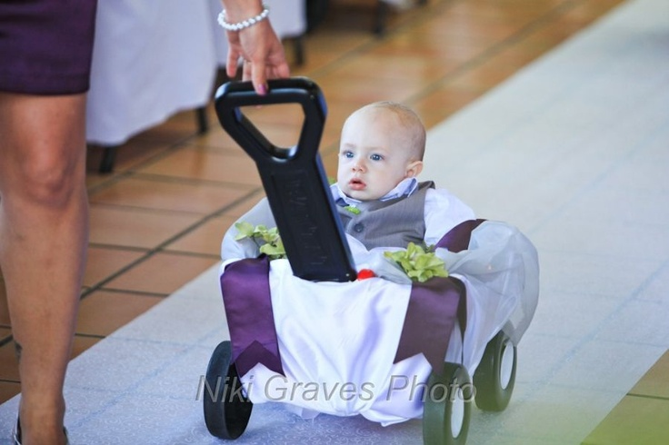 Baby Ring Bearer :) If I could figure out, I would do this...