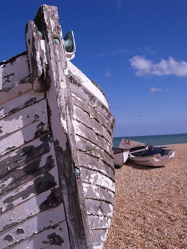 Old boat on Deal beach [shared]