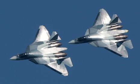 2/22/18 New Russian stealth fighter spotted in Syria  Two Su-57 jets are the latest high-tech military system Russia has deployed in Syria conflict
