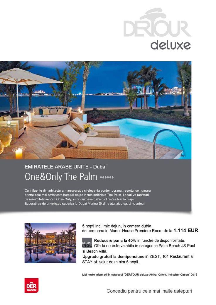 Concediu pentru cele mai inalte asteptari! One & Only The Palm - Dubai - Rezerva acum! http://bit.ly/1RFEYm8
