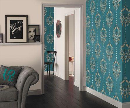 Dulux Wallpaper Teal Interior Design Pinterest Dulux