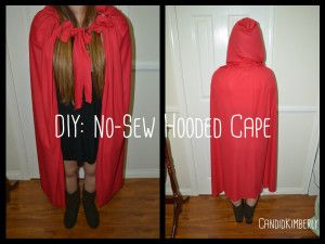 DIY: No-Sew Hooded Cape   **love this one