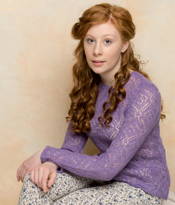 FREE Rowan pattern online: Rosa by Marie Wallin, made with only 3-4 skeins of Rowan Fine Lace!