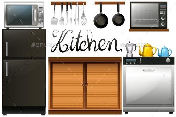 Kitchen Full Of Equipment And Furniture Ad Full Spon Kitchen