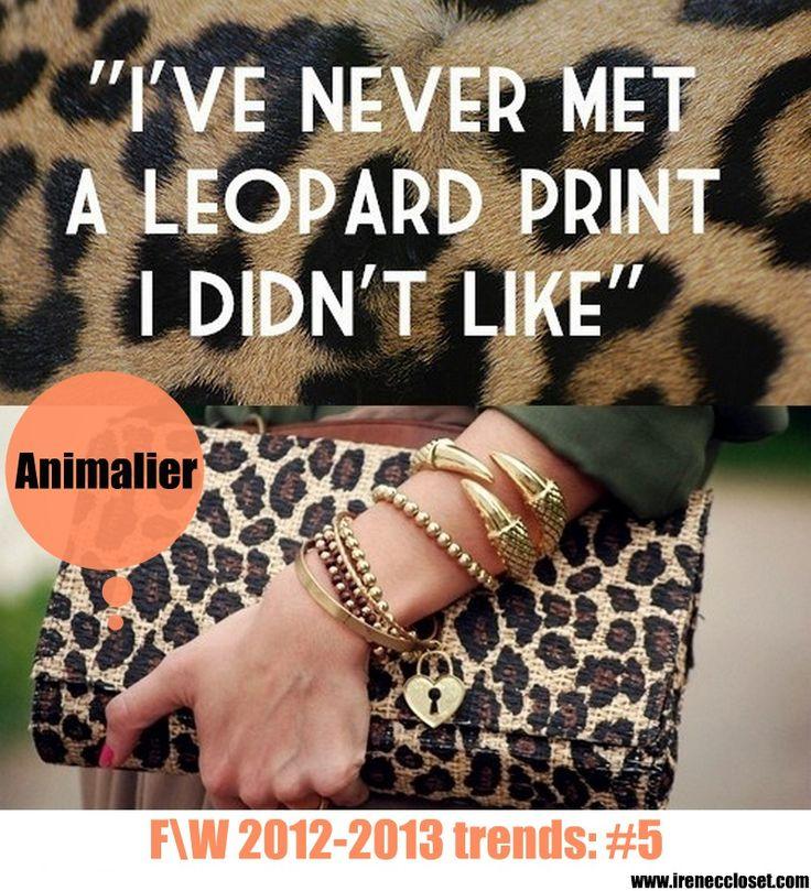 tendenze autunno inverno 2012 2014 animalier leopard ...