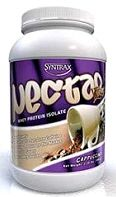 WHEY PROTEIN ISOLATE Whey protein isolates tend to have slightly fewer carbs and more protein than whey protein powders. I like Syntrax Nectar cappuccino flavor mix. It has a subtle coffee flavor and it makes nice thick smoothies. Many people also use whey protein isolate and whey protein powders in low carb baked goods. I haven't had a lot of luck myself yet. Most of the things I've tried came out very dry. Below is a protein bar recipe that did turn out pretty well.  Ingredients (Syntrax…