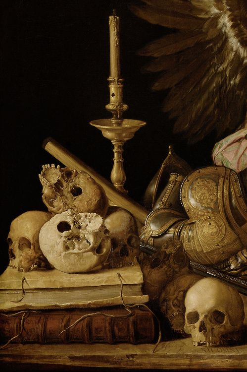 viapoisonwasthecure:Allegory of Vanity (detail) Antonio de Pereda ca. 1632-36  the trappings of this life