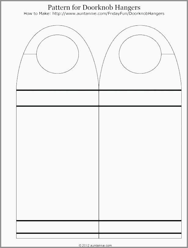 Door Hanger Template Word In 2020 Door Hanger Template Doorknob