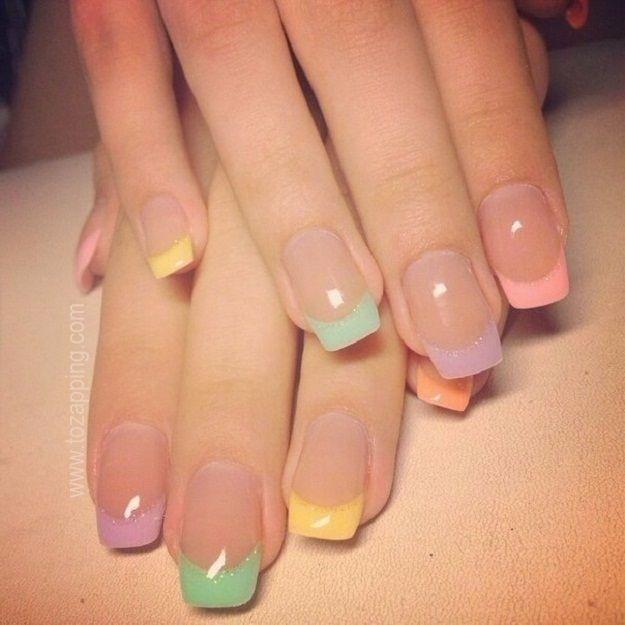 64 best manicura images on pinterest nail scissors nail - Unas azules decoradas ...