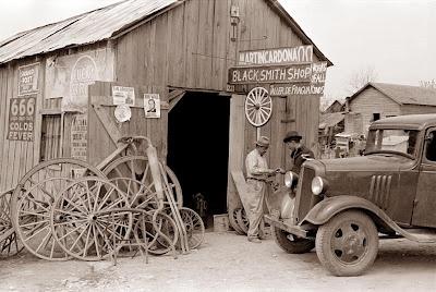 1939 - Blacksmith Shop - San Antonio, Texas.