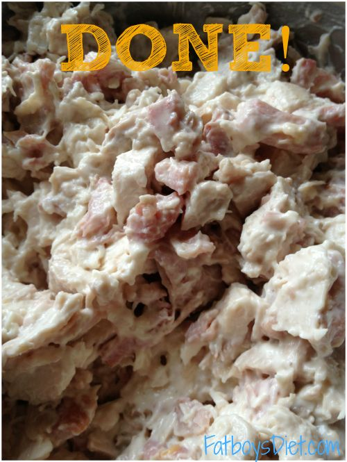 Chicken and bacon sandwich filling