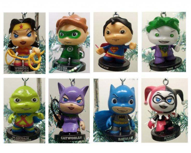 Dc Comics Characters Christmas Ornaments Geek Decor