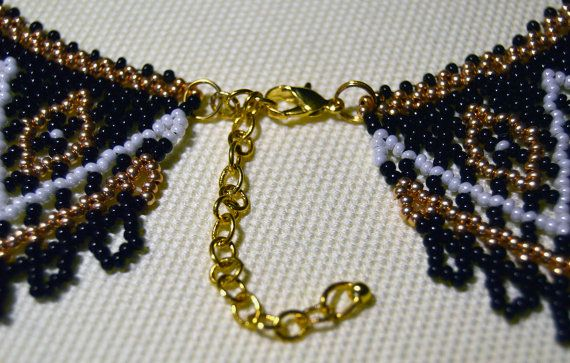 Beaded Necklaces Seed bead necklace Collar by NakaHandMadeShop