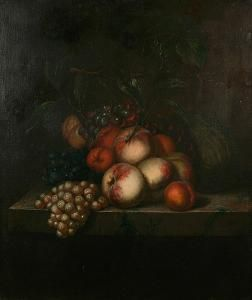 Date unknown - Aelst, van der Evert - Still Life Of Apples, Oranges, Grapes And Melon On A Ledge