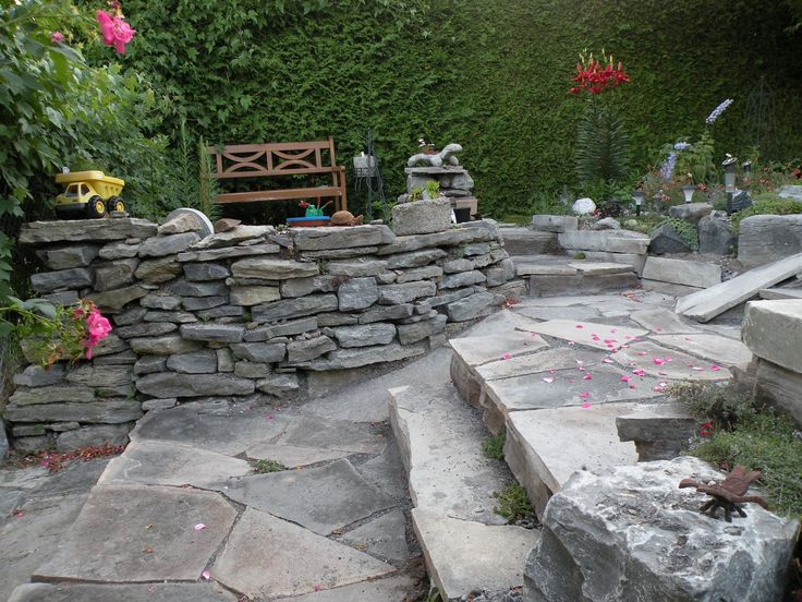 Raised Bed Rock Borders My Stone Wall Is Starting To