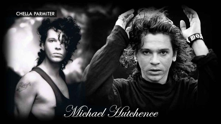Michael Hutchence black and white collage