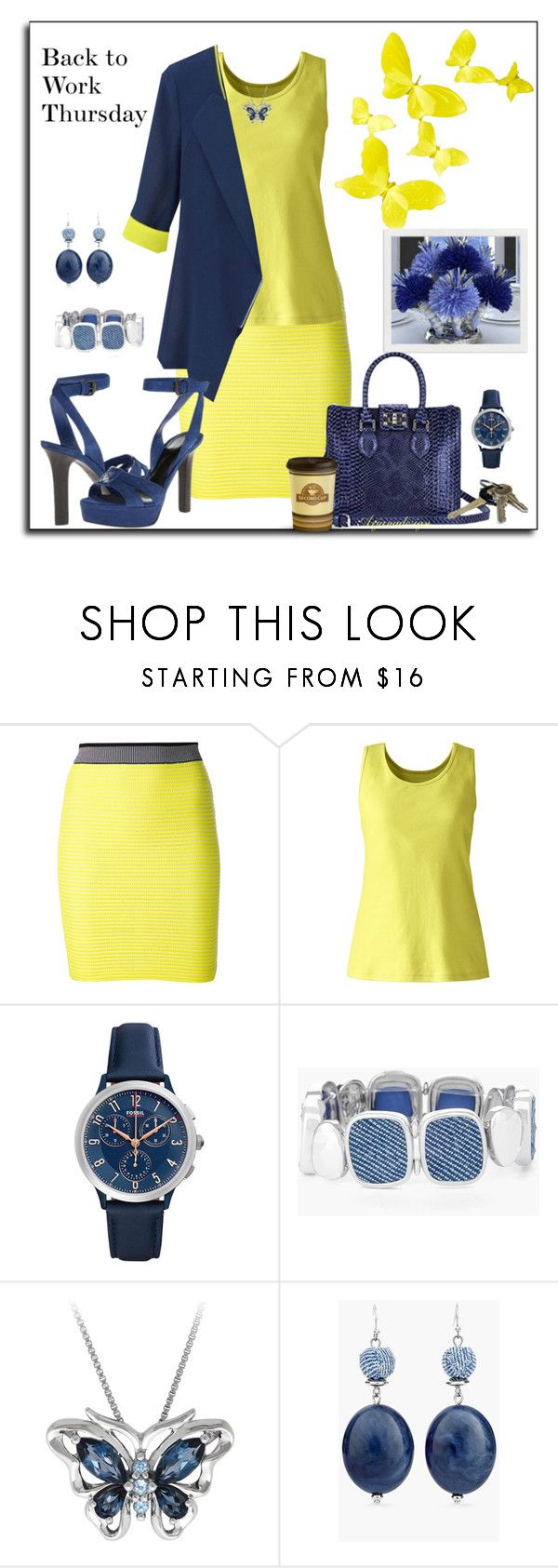 """""""BACK TO WORK THURSDAY"""" by arjanadesign ❤ liked on Polyvore featuring Alexander Wang, Lands' End, FOSSIL, Chico's, Avon, AlexanderWang, bottegaveneta, landsend and chicos"""