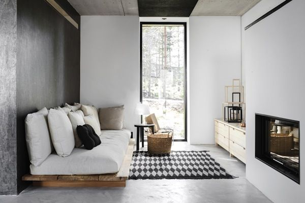 Landelijk stoer interieur in Finland - via April and May #inspiratie