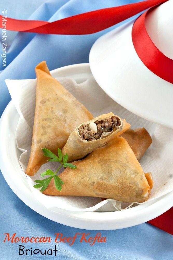 Traditional Moroccan Beef Kefta Briouat, ,