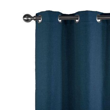 collection lin rideau en lin lourd bleu marine motifs chevrons 612gr m tr s beau tomb. Black Bedroom Furniture Sets. Home Design Ideas