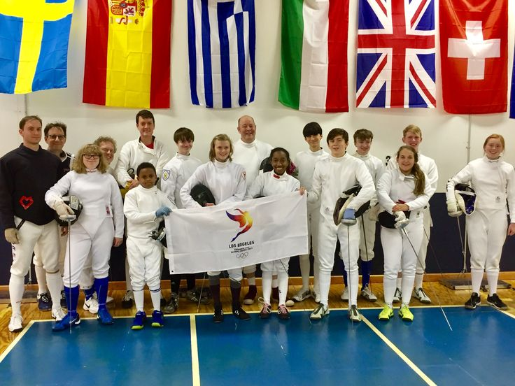 Birmingham Fencing Club and Dunwoody Fencing Club support the City of Los Angeles bid for the 2024 Olympic Games  #FollowtheSun #TeamUSA #fencing