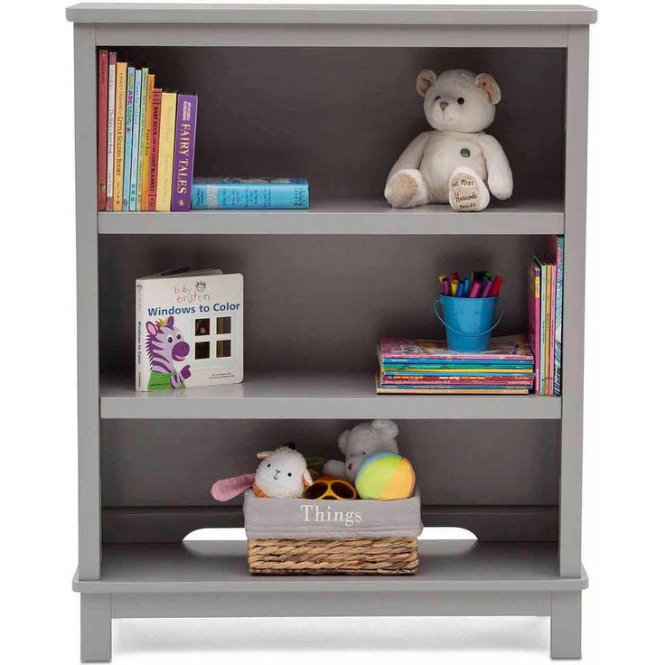 Simple Gray Cubic Kids's Bookcases Ideas