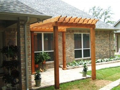 Pergola also come in different size. Small pergolas are also very commonly  used in gardens and landscape designs plants.
