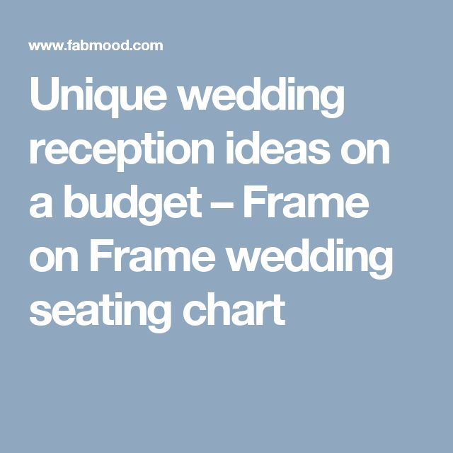 Unique wedding reception ideas on a budget – Frame on Frame wedding seating chart